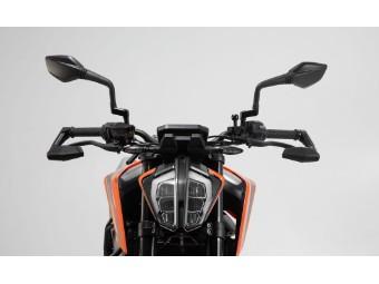 Motorrad Hebelschützer mit Windabweiser passend für KTM 390 Duke ab Bj. 2017