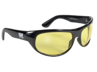 Retro Style Biker Sonnenbrille the original WRAP gelb getönt Nachtfahrbrille
