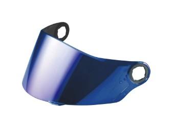 blau verspiegeltes Visier für verschiedene Helm Modelle