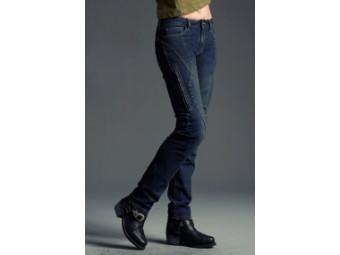Stylische Slim Fit Motorrad Jeans für Damen mit Knie und Hüftprotektoren