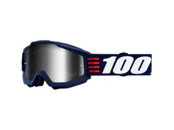 Motorrad Crossbrille 100% Accuri ART DECO verspiegelt Beschlag und Kratzfrei