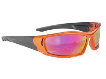 Stylische Biker Motorrad Sonnenbrille Igniter orange rainbow verspiegelt