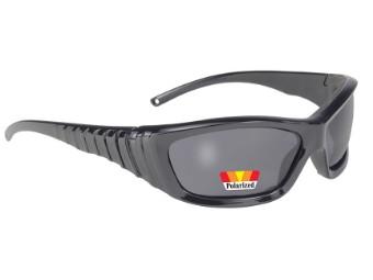 coole Biker Sonnenbrille grau getönt gepolstert und polarisiert