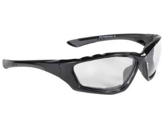 Gepolsterte Biker Sonnenbrille Kickstart klare Gläser UV400