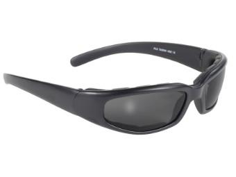 Gepolsterte Biker Sonnenbrille Rally dunkel getönt