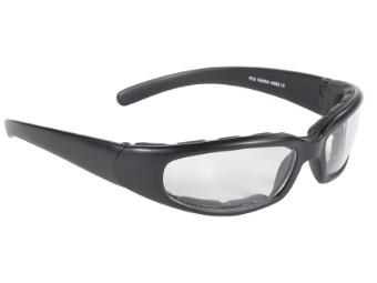 Gepolsterte Biker Sonnenbrille Rally klare Gläser UV400