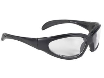 Sportliche Motorrad Biker Sonnenbrille CHOPPER klare Gläser UV400 gepolstert