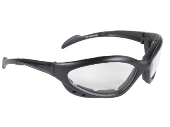 Sportliche Motorrad Biker Brille Navigator klare Gläser UV400 gepolstert