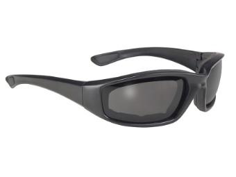 Stylische Biker Sonnenbrille Cruise dunkel getönt und gepolstert