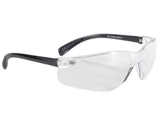 Sportliche Biker Motorrad Brille Spoiler Rahmenlos klare Gläser UV400