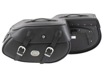 Leder Seitentaschensatz Satteltaschen BUFFALO BIG passend für C-BOW Träger