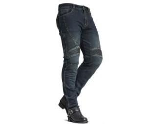 Stylische Slim Fit Motorrad Jeans für Herren mit Knie und Hüftprotektoren