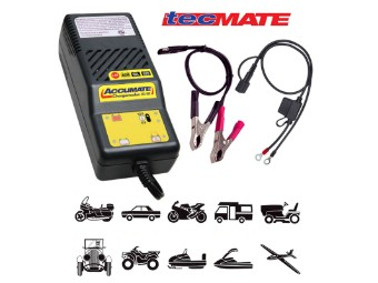 AccuMate TM06 6V/12V Batterieladegerät für Motorrad PKW Quad Oldtimer Jetski