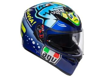 sportlicher Integralhelm K3 SV Rossi Misano 2015