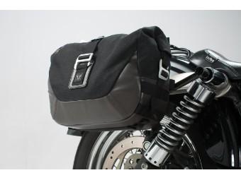 Legend Gear Motorrad Seitentaschen Komplettsystem für Harley Dyna Street Bob