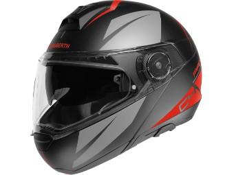 Sportlicher Motorrad Klapphelm C4 PRO Merak Red