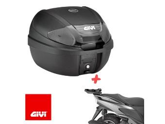 Roller Monolock Topcase Set inkl. Träger und Platte für Yamaha Cignus 125 / X Bj. 04-15