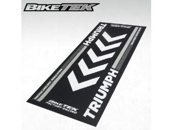 Motorradteppich Unterlage Matte TRIUMPH für Garage, Wohnzimmer, Showroom