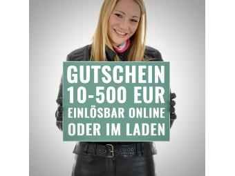 Wertgutschein (Online oder im Geschäft einlösbar)