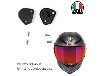 Visiermechanik inkl. Schrauben Visiermechanismus für AGV Race / Pista / Corsa / Veloce