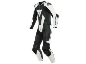 Einteilige sportliche Lederkombi LAGUNA SECA 5 aus perforiertem Leder mit aerodynamischem Höcker