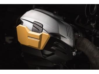 Golden eloxierter Zylinderschutz passend für BMW R1200R/GS/Adventure/RnineT