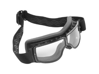 Biker Motorradbrille Nevada klare Gläser geeignet für Brillenträger