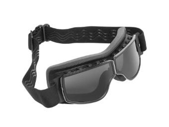 Biker Motorradbrille Nevada dunkel getönte Gläser geeignet für Brillenträger