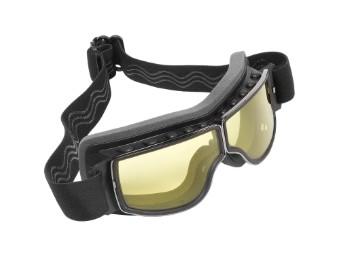 Biker Motorradbrille Nevada gelb getönte Gläser geeignet für Brillenträger