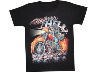 Loose Fit Highway to Hell Biker Motorcycle T-Shirt
