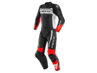 Zweiteilige sportliche Motorrad Lederkombi MISTEL aus Premiumleder