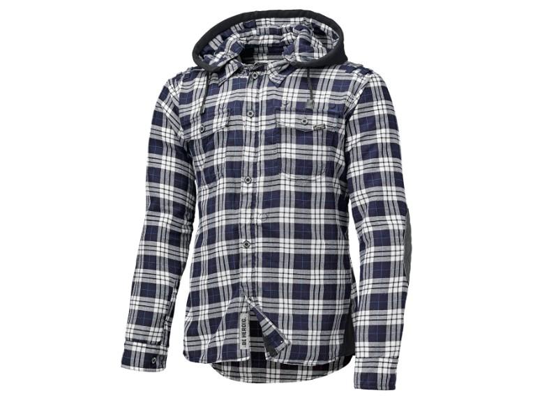 Flanellhemd Lumberjack L blau-weiß