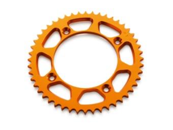 Aluminium Kettenrad orange für 85ccm