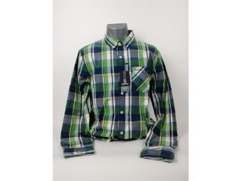Mackay Shirt blue & lime green