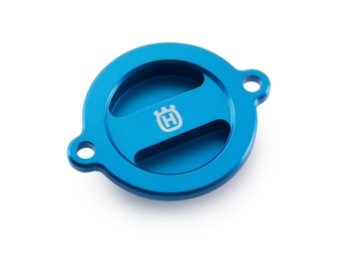 Ölfilterdeckel blau eloxiert