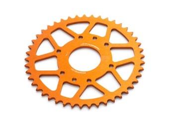 Aluminium Kettenrad orange