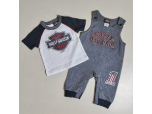 H-D Kids Overall & T-Shirt