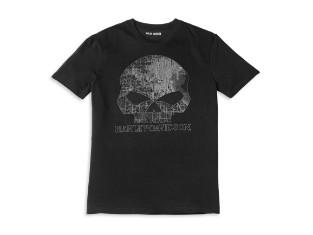T-Shirt Milwaukee Map Skull Black