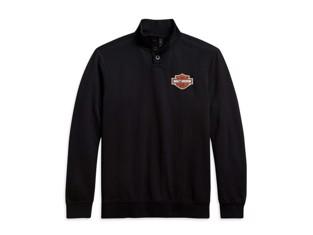 Sweater Button Mockneck