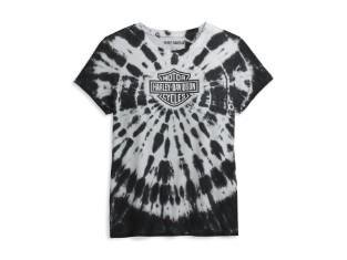 Damen T-Shirt Tie Dye Black