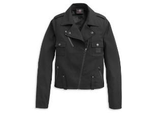 Asymertical Zip Biker Damen Jacke