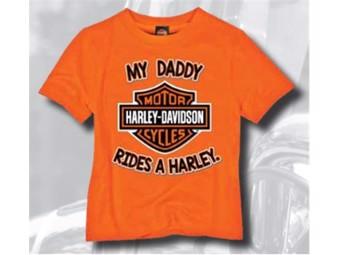 Kids T-Shirt My Daddy Rides A Harley