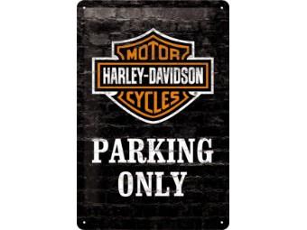 Harley-Davidsion Blechschild Parking Only