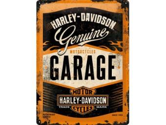 Blechschild Genuine Garage