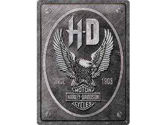 Blechschild H-D Eagle