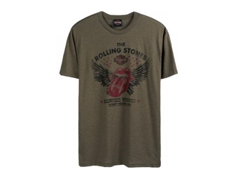 T-Shirt Winged Green - Rolling Stones