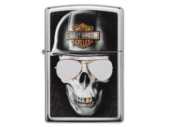 Zippo HD Edgy Skull