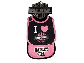 Baby Lätzchen 2er Set Harley Girl