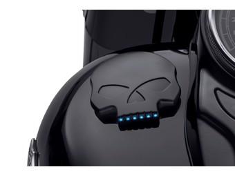 LED-Tankdeckel - Willie G. Skull Black