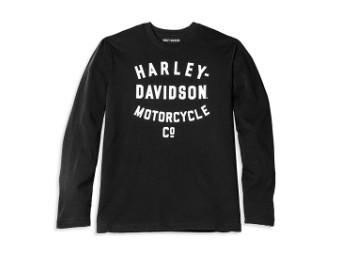 Langarmshirt Racer Font Motorcycle